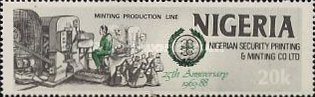 [The 25th Anniversary of Nigerian Security Printing and Minting Co. Ltd., type QY]