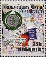 [The 25th Anniversary of Nigerian Security Printing and Minting Co. Ltd., type QZ]