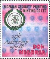 [The 25th Anniversary of Nigerian Security Printing and Minting Co. Ltd., type RA]
