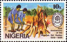[The 70th Anniversary of Nigerian Girl Guides Association, type RJ]