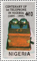 [The 100th Anniversary of the First Telephone in Nigeria, type VT]