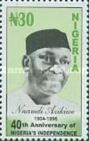 [The 40th Anniversary of Nigeria's Independence, type YE]
