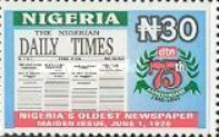 [The 75th Anniversary of The Daily Times of Nigeria, type YM]