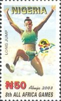 [The 8th All Africa Games - Abuja, Nigeria, type ZR]