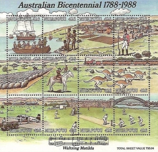 [The 200th Anniversary of the Colonization of Australia, type ]