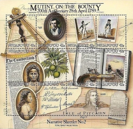 [The 200th Anniversary of the Mutiny on the Bounty, type ]