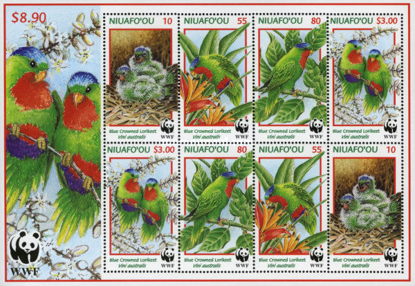 [Worldwide Nature Conservation - Blue Crowned Lory, type ]