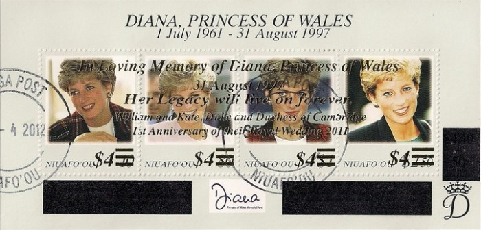 [Princess Diana Issue of 1998 Overprinted, type ]