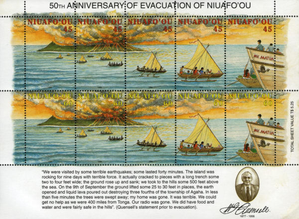 [The 50th Anniversary of Evacuation of Niuafo'ou Island, type IF1]