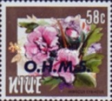 [Flowers - Niue Postage Stamps of 1981 & 1984 Overprinted