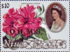 [Flowers & Queen Elizabeth - Niue Postage Stamps of 1981 Overprinted