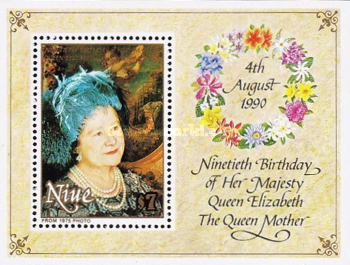 [The 90th Anniversary of the Birth of Queen Elizabeth the Queen Mother, 1900-2002, type ]
