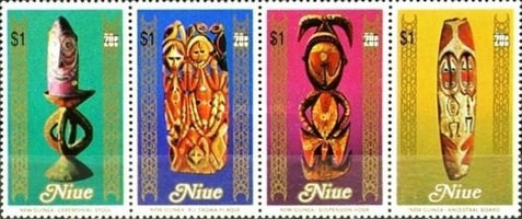 [South Pacific Arts Festival, Rarotonga - Stamps of 1980 Surcharged, type ]