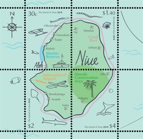[Maps - The Island of Niue, type ]