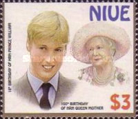 [The 100th Anniversary of the Birth of Queen Elizabeth the Queen Mother, 1900-2002 - The 18th Anniversary of the Birth of Prince William, type ADL]