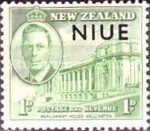 [Victorious End of Second World War - New Zealand Postage Stamps Overprinted, type AI]