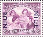 [Victorious End of Second World War - New Zealand Postage Stamps Overprinted, type AJ]