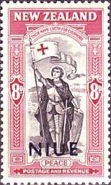 [Victorious End of Second World War - New Zealand Postage Stamps Overprinted, type AJ1]