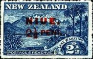 [New Zealand Postage Stamp Surcharged - Not Watermarked. See Also No. 13, type D]