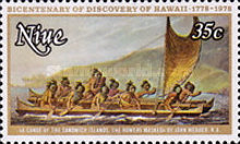 [The 200th Anniversary of the Landing of Captain Cook in Hawaii - Painting of John Webber, type FA]