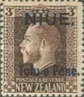 [New Zealand Postage Stamps Surcharged, type I]