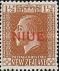 "[New Zealand Postage Stamps Overprinted ""NIUE"" - Typhographed, type J3]"