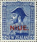 "[New Zealand Postage Stamp Overprinted ""NIUE"", type R1]"