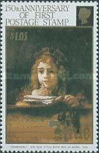 [The 150th Anniversary of Stamps - Paintings of Rembrandt, type WM]