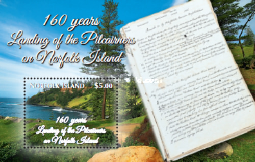 [The 160th Anniversary of the Landing of the Pitcairners on Norfolk Island, Typ ]