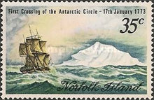 [The 200th Anniversary of Captain Cook's Crossing of the Antarctic Circle, Typ CR]