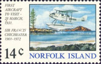 [The 43rd Anniversary of the First Airplane Landing on Norfolk Island, type DK]
