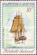 [The 200th Anniversary of the Discovery of Norfolk Island by James Cook, type DM]