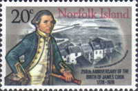[The 250th Anniversary of the Birth of Captain Cook, 1728-1779, Typ FT]