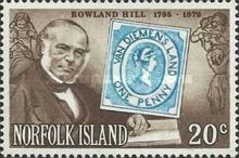 [The 100th Anniversary of the Death of Sir Rowland Hill, Typ GA]