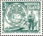 [The 100th Anniversary of Landing of Pitcairners on Norfolk Island, type H]