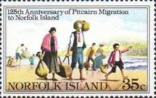 [The 125th Anniversary of Pitcairn Islanders' Migration to Norfolk Island, Typ HF]