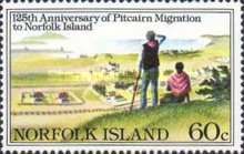 [The 125th Anniversary of Pitcairn Islanders' Migration to Norfolk Island, Typ HG]