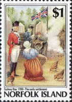 [The 200th Anniversary of the Colonization of Norfolk Island, Typ NY]