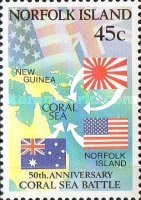 [The 50th Anniversary of the Battle of the Coral Sea, Typ RC]
