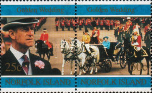 [The 50th Anniversary of the Royal Wedding of Queen Elizabeth II and Prince Philip, Typ VL]