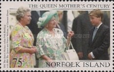 [The 99th Anniversary of the Birth of Queen Elizabeth the Queen Mother, 1900-2001, Typ XX]