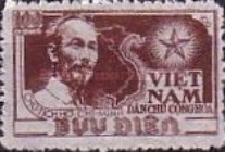 [Ho Chi Minh & Map of Vietnam - Thin White Paper, Typ C]