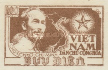 [Ho Chi Minh & Map of Vietnam - Thin White Paper, Typ C1]