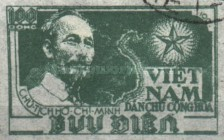 [Ho Chi Minh & Map of Vietnam - Thin White Paper, Typ C5]