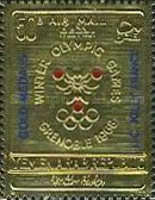 [Airmail - Winter Olympic Games - Grenoble, France - Overprinted