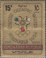 [Airmail - Winter Olympic Games 1968 - Grenoble, France, type PQ2]