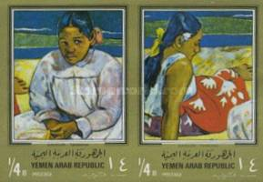 [Paintings by Paul Gauguin - Gold Frame, type PZ1]