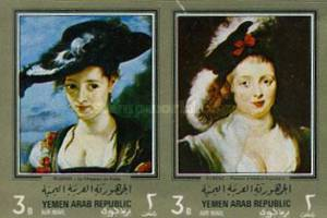 [Airmail - Paintings by Peter Paul Rubens - Gold Frame, type QZ1]