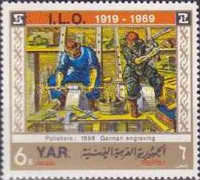 [Airmail - The 50 Anniversary of the International Labour Organisation, type WJ]