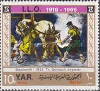 [Airmail - The 50 Anniversary of the International Labour Organisation, type WL]